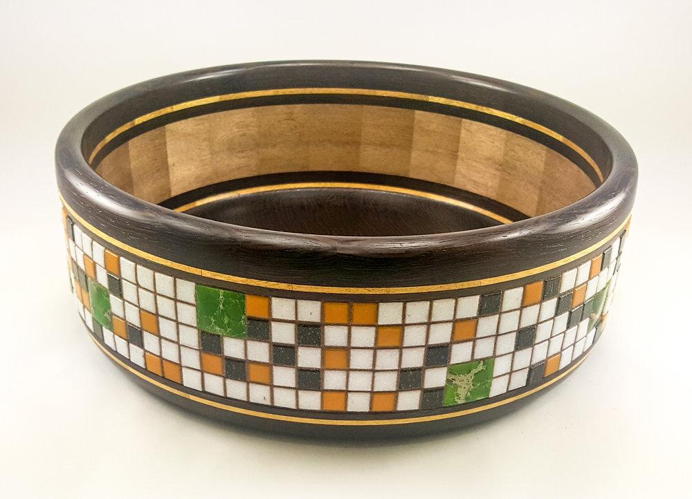 Tile Patterns in Black & Green