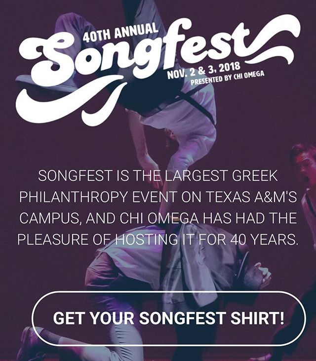 Don't forget!!!! Songfest t-shirts are currently ON SALE, get yours by clicking the link in our bio!! Not only are they cute and comfortable, but they also contribute to the greater mission of Songfest, which is supporting around 28 philanthropies!  Who wouldn't want to be apart of that?  Thanks to @cccreationsusa for partnering with us for t-shirts, and @r.scott.jackson.photo for many of the awesome pictures displayed on our website and Instagram!