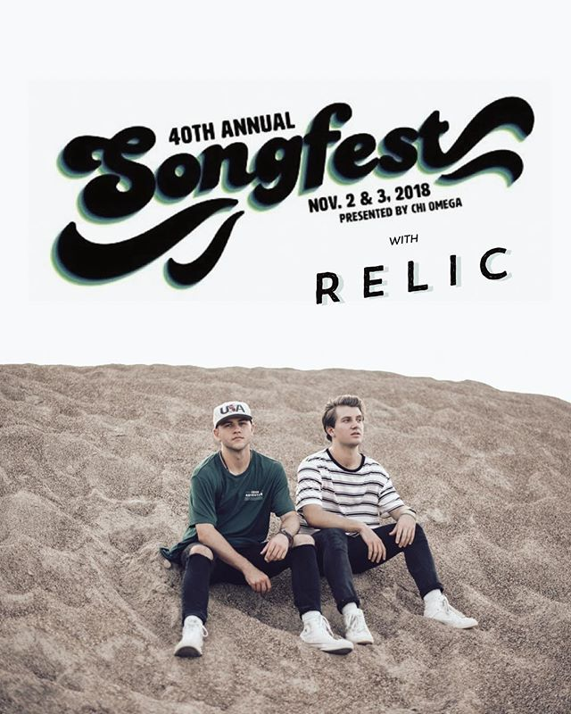 We are excited to announce that we'll be having @thebandrelic at Songfest this year!! Don't forget to buy your ticket so you won't have to miss out on them or the 14 other amazing acts this year!