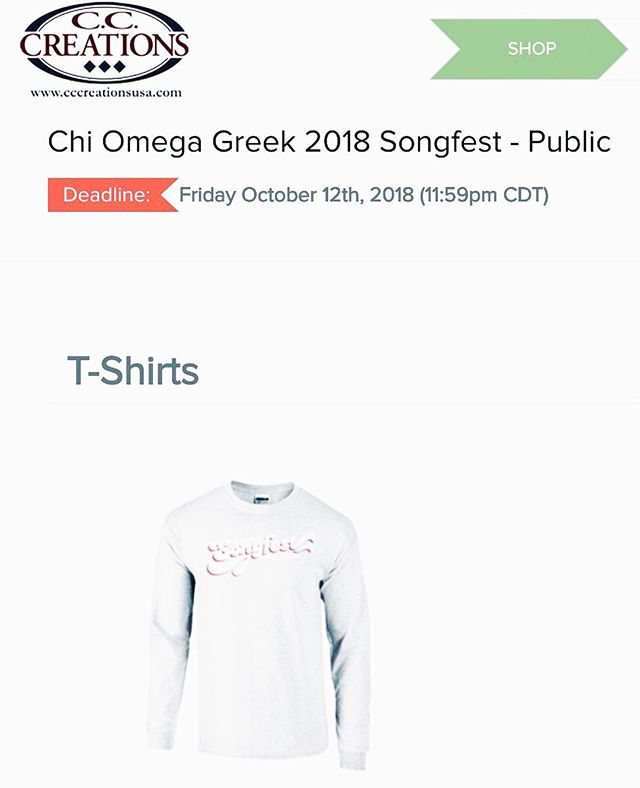 HEY! Check that deadline👀 if you want a tshirt, NOW is your time to get one to support Songfest 2018!  Link in bio💥