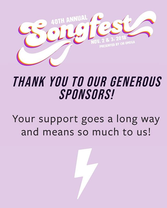 Huge shout out to our wonderful sponsors of Songfest 2018.  We could not put on a phenomenal show without your generous support. Thank you so much!!