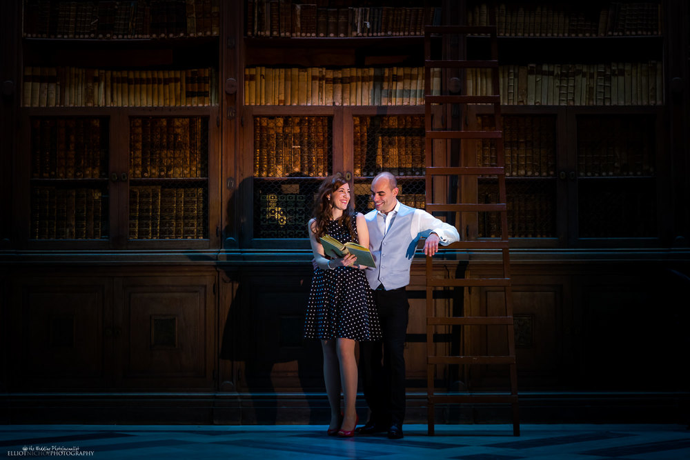 engagement session in the national library in valletta malta