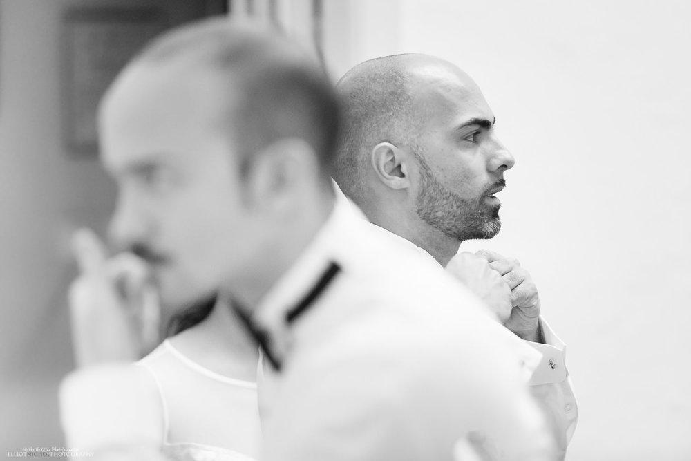 groom getting ready Malta Hamrun suit bowtie