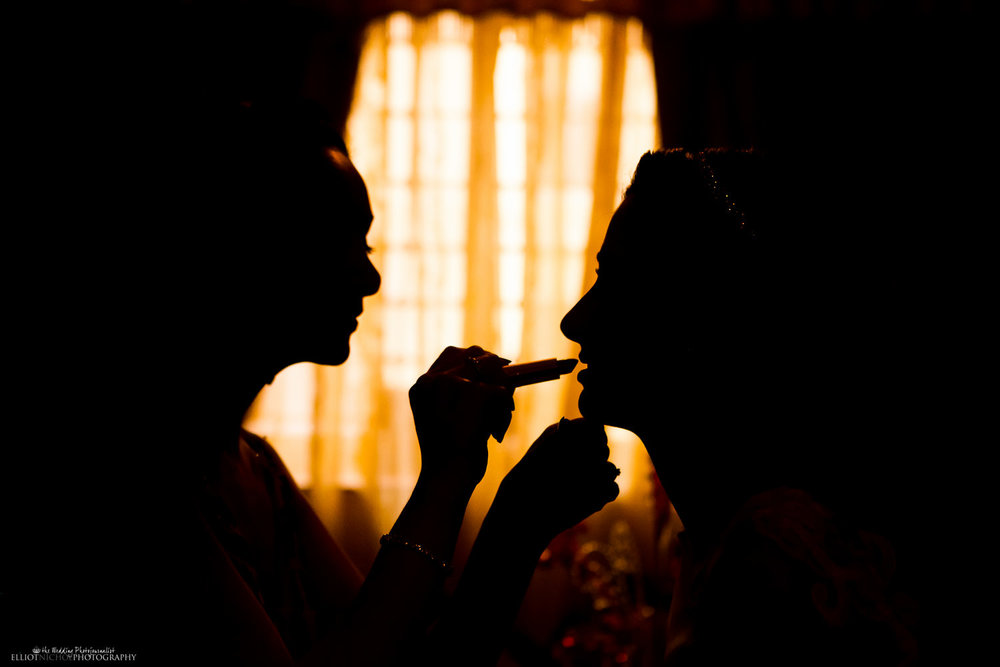 makeup lipstick bride silhouette