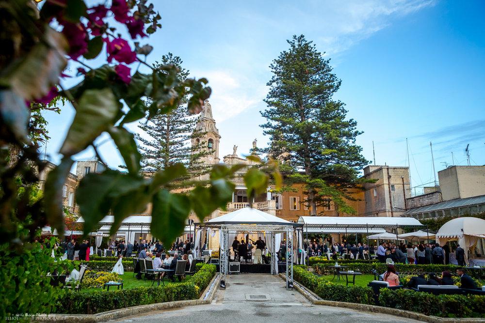Palazzo Parisio garden wedding reception naxxar malta