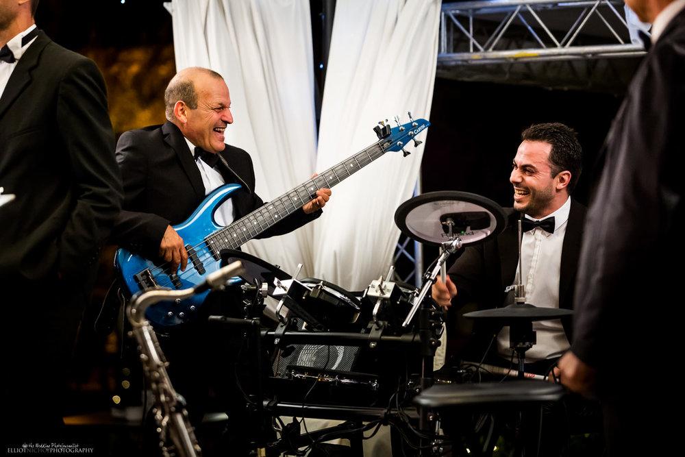 band wedding performance rocking guitar drummer reception malta