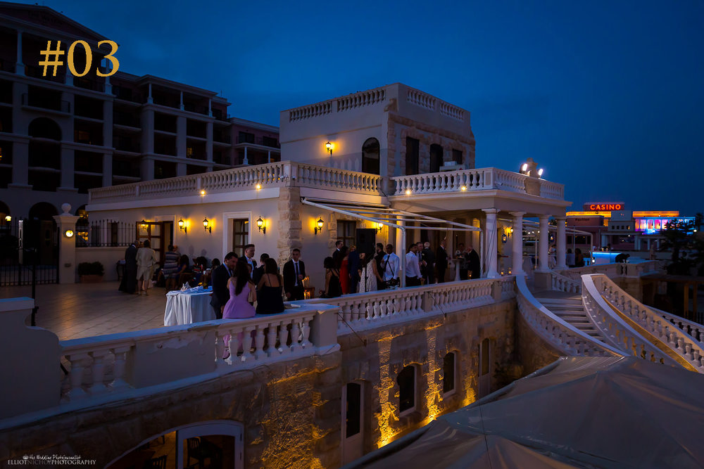third most popular wedding venue in Malta - The Westin Dragonara resort, St Julians, Malta.