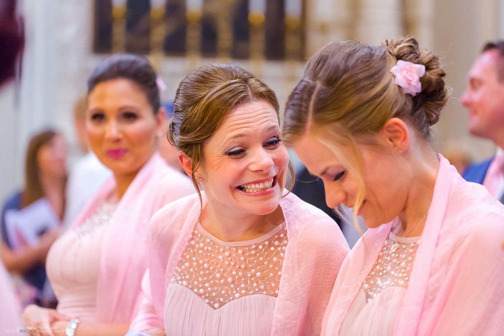 Happy smiling bridesmaid