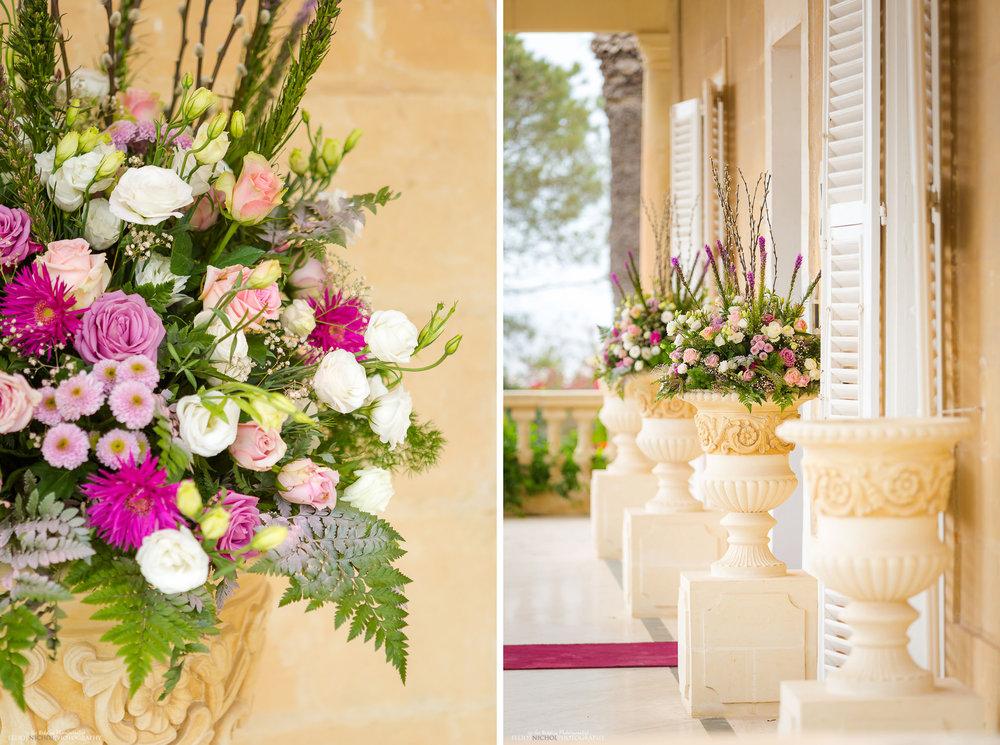 Flowers outside Villa Arrigo, Naxxar, Malta