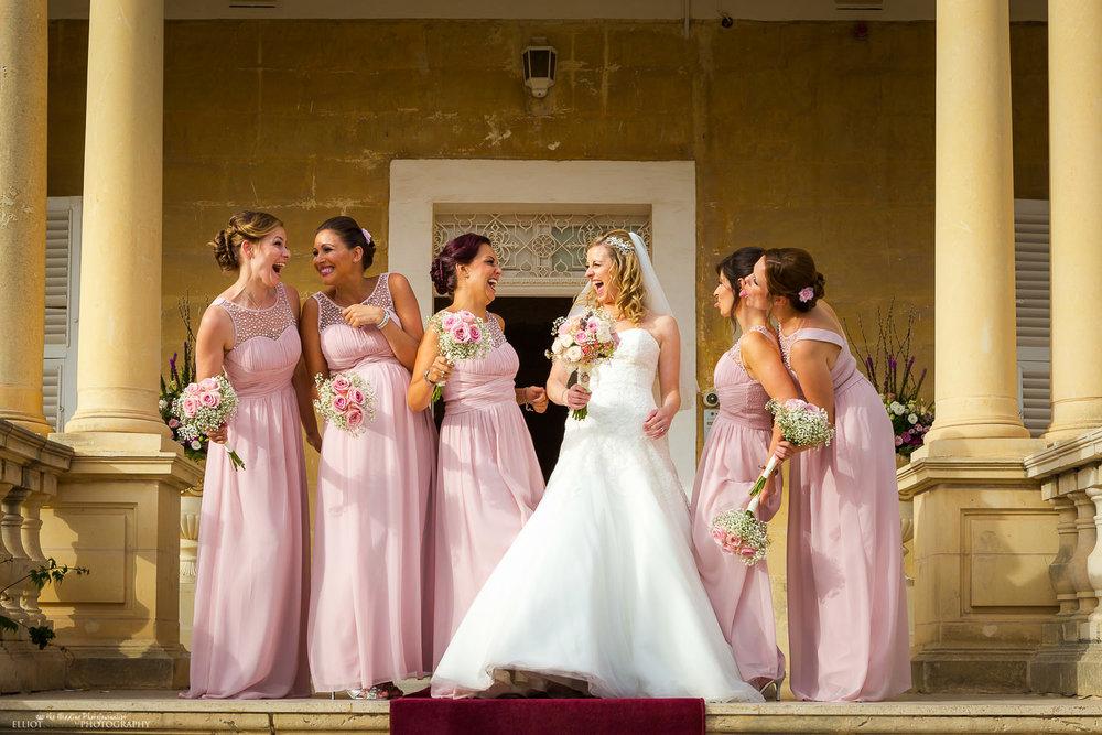 Bride and Bridesmaids informal groupshot