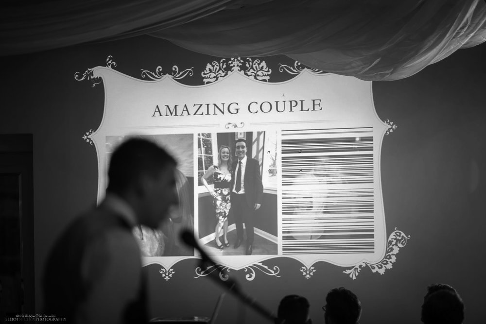 Bestman speech with slideshow at a wedding reception at Villa Arrigo