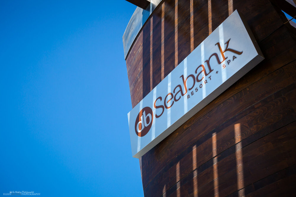 Sign of the db Seabank resort and Spa in Mellieha, Malta.