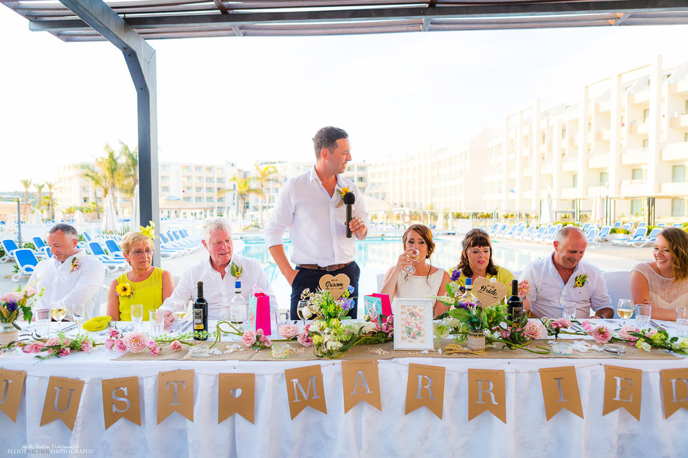 Groom's speech at the Seabank Resort, Mellieha, Malta