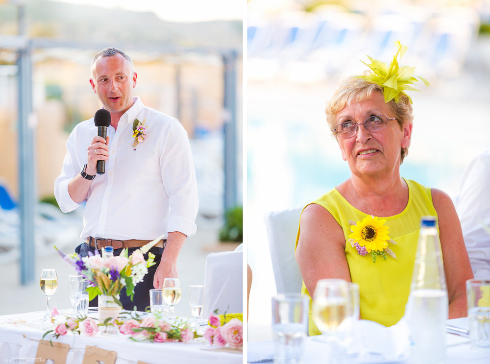 Best man speech and mother of the grooms reaction