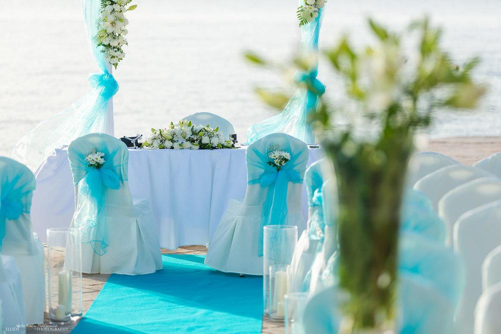 Wedding ceremony setup at the Dolmen Resort Hotel, Qawra, Malta.