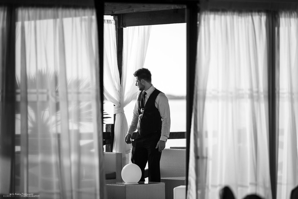 Bestman checking that everything is done before the wedding ceremony goes ahead