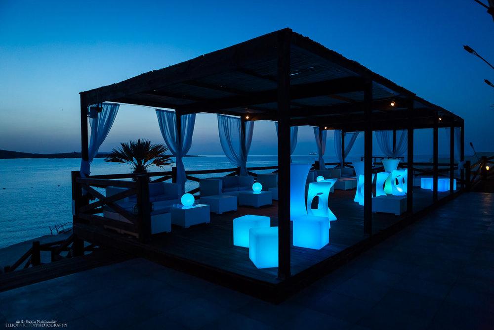 View of the Aqua Terrace Bar at the Dolmen Resort Hotel, Qawra, St Paul's Bay, Malta.