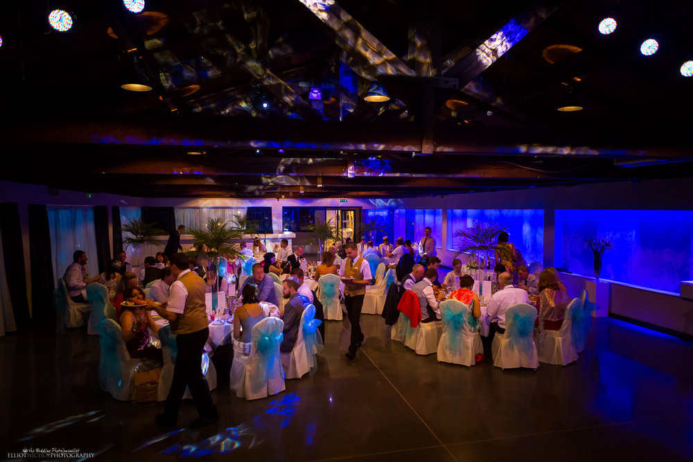 Wedding reception setup in the Atlantis Event Centre at the Dolmen Resort Hotel, Malta