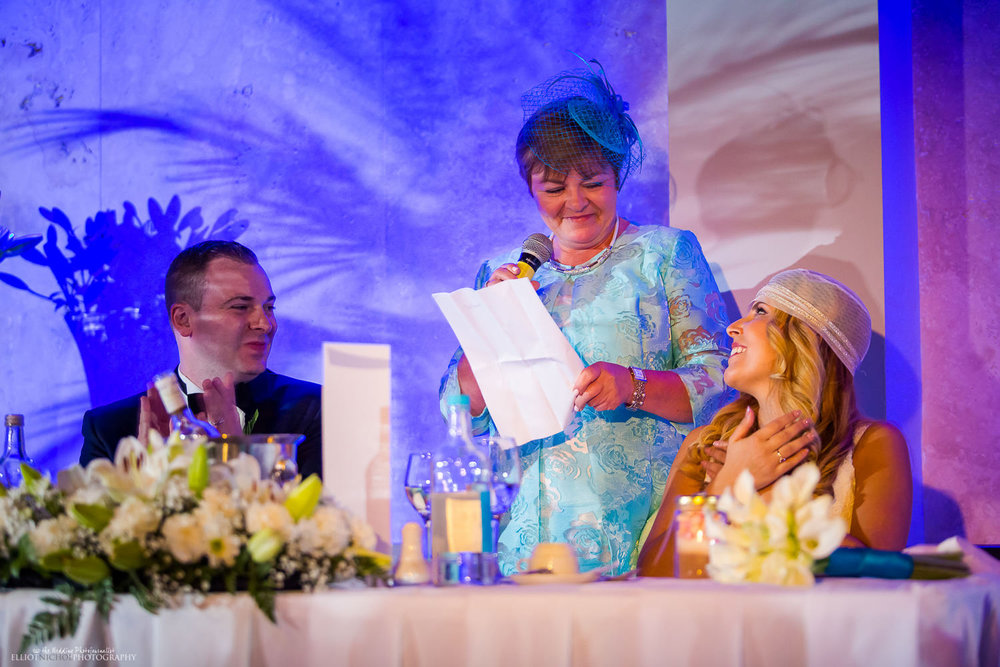 groom's mother wedding reception speech