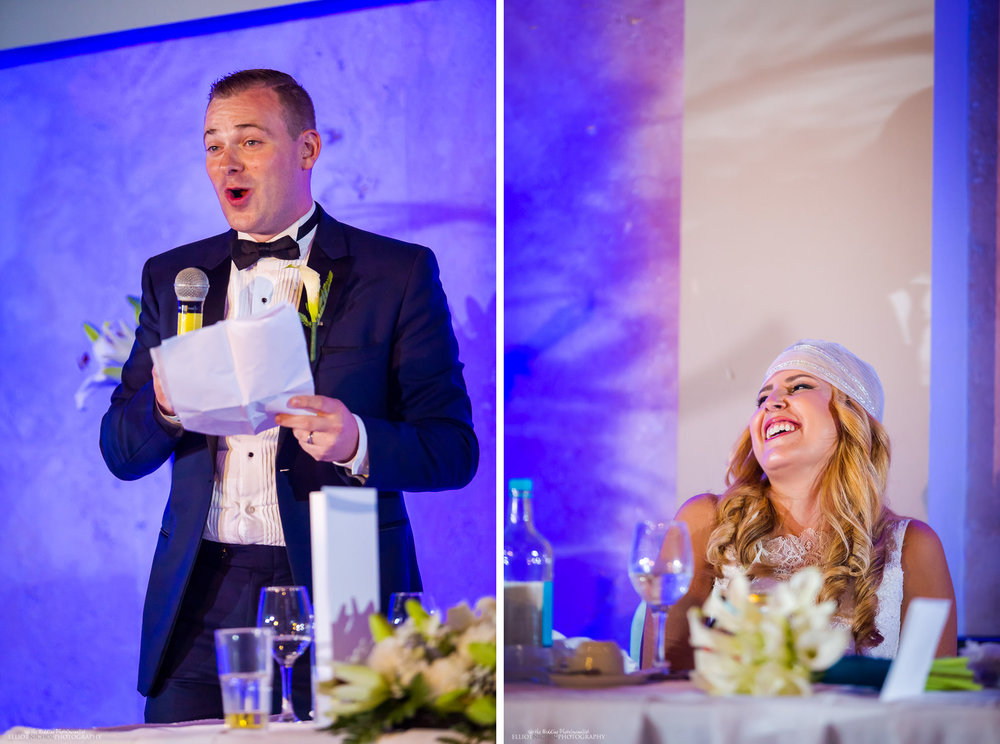 groom performing his wedding speech at in the Atlantis Event Centre at the Dolmen Hotel, Malta.