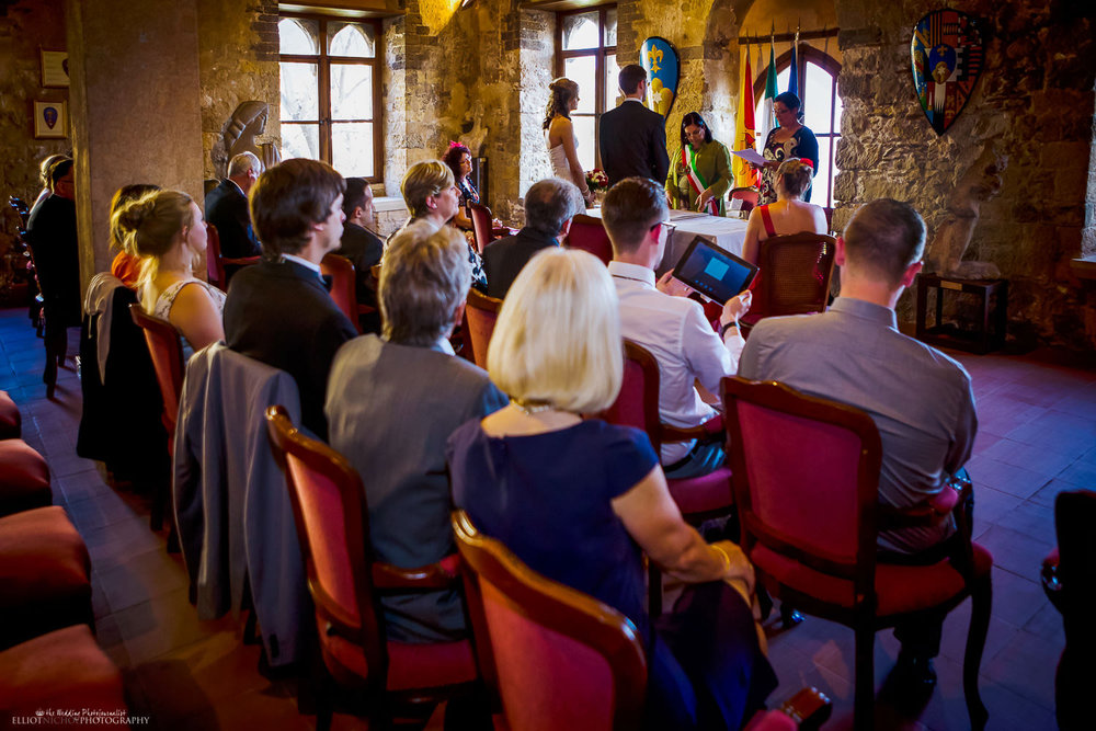 Wedding Ceremony in the Palazzo Duchi di Santo Stefano in Taormina, Sicily.