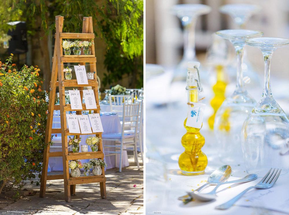 wedding reception setup at the Villa Bologna, Attard, Malta