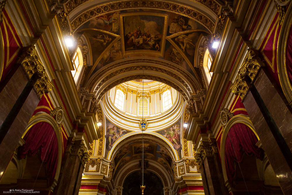 The interior of Saint Paul's Cathedral in Mdina, Malta.