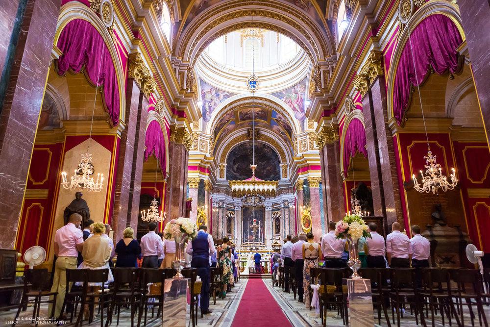 Wedding ceremony inside Mdina Catherìdral, Malta