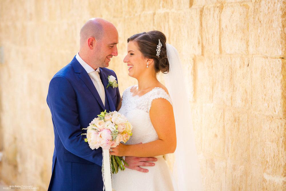 Portrait of Bride and Groom in Mdina, Malta