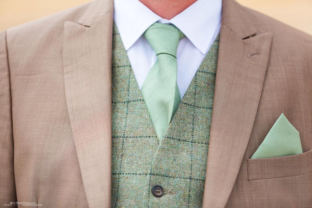 Grooms suit detail