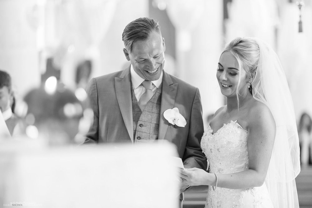Bride and Groom during the church wedding ceremony in Birzebbuga, Malta.