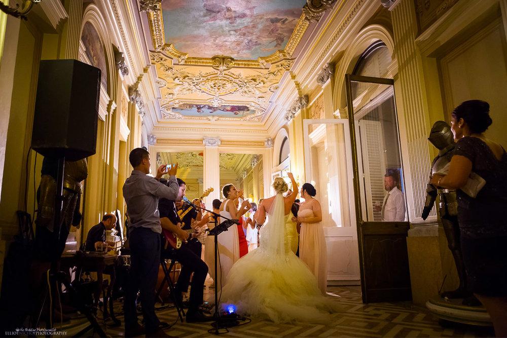 wedding party at the palazzo parisio