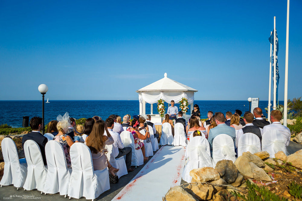 Radisson Blu Resort's The Edge 's Gazebo wedding ceremony location, St Julians, Malta