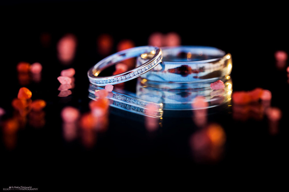 Wedding ring details of destination wedding photography in Malta