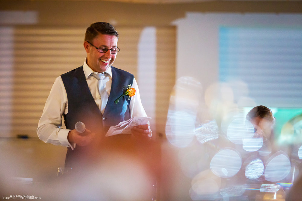 father of the bride does his wedding speech