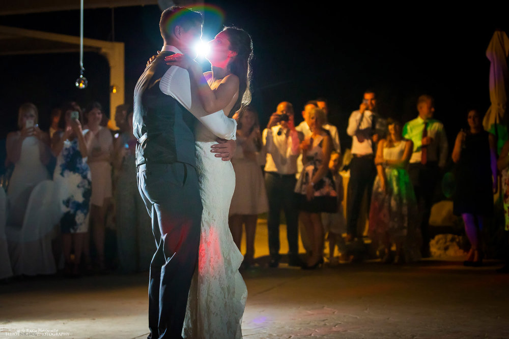 first dance at the Edge restaurant, Radisson Blu, St Georges Bay, Malta