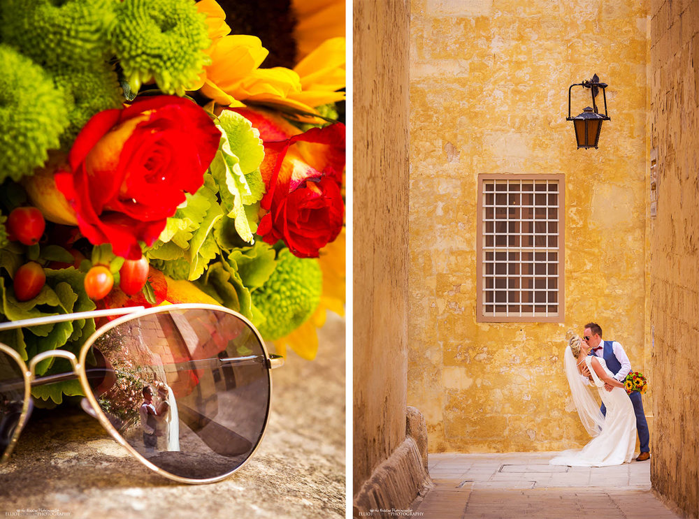 Bride and Groom portraits in Mdina, Malta