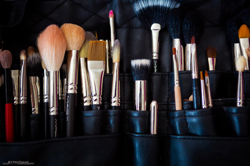 brides makeup tools and brushes
