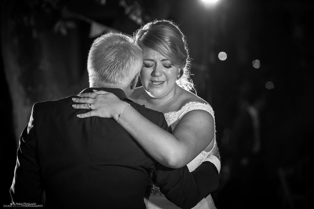 Emotional first dance with the father of the bride and his daughter