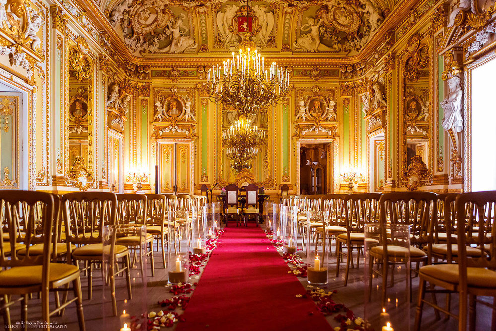 Wedding ceremony venue - Ballroom of the Palazzo Parisio in Naxxar, Malta.