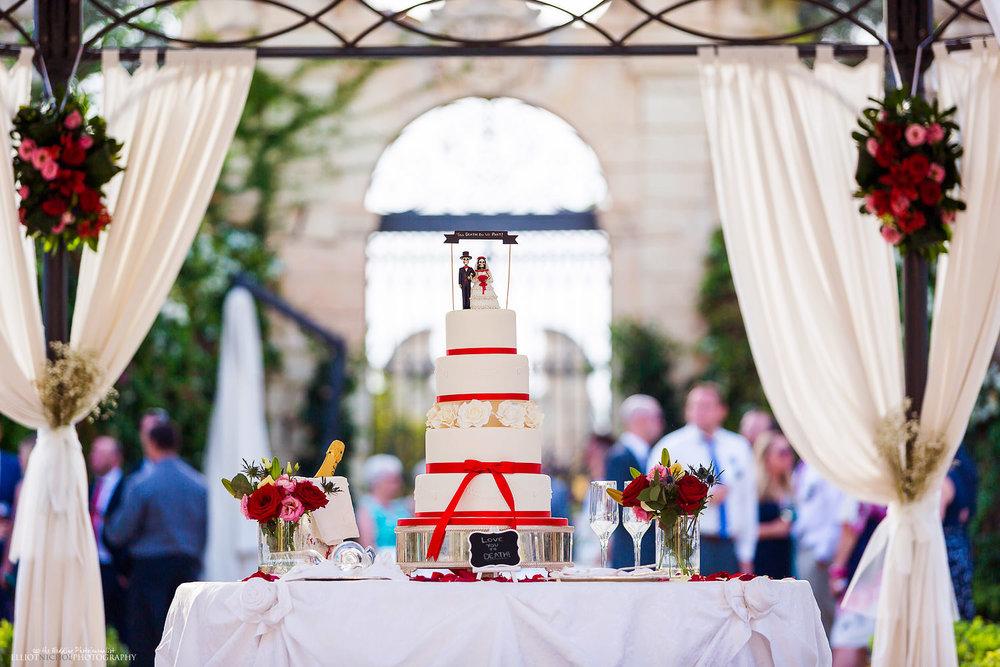 Maltese Mexican day of the dead wedding cake at Palazzo Parisio, Malta