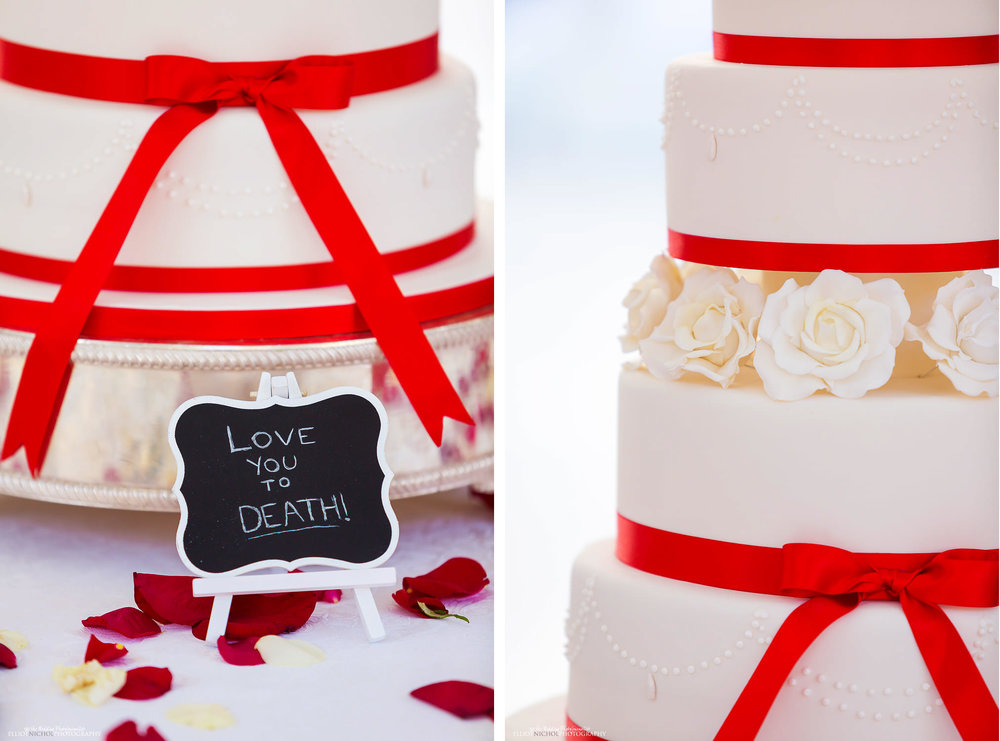Wedding cake detail - love you to death