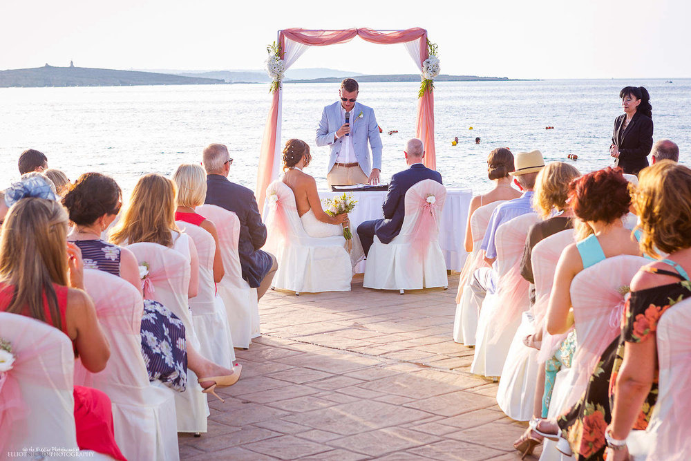 Wedding ceremony at the Amazonia Lower Deck, Dolmen Resort, Malta
