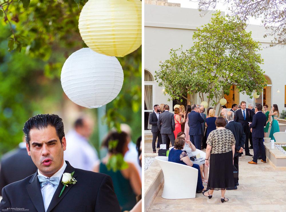 Wedding guests at the Villa Mdina, Naxxar,Malta.