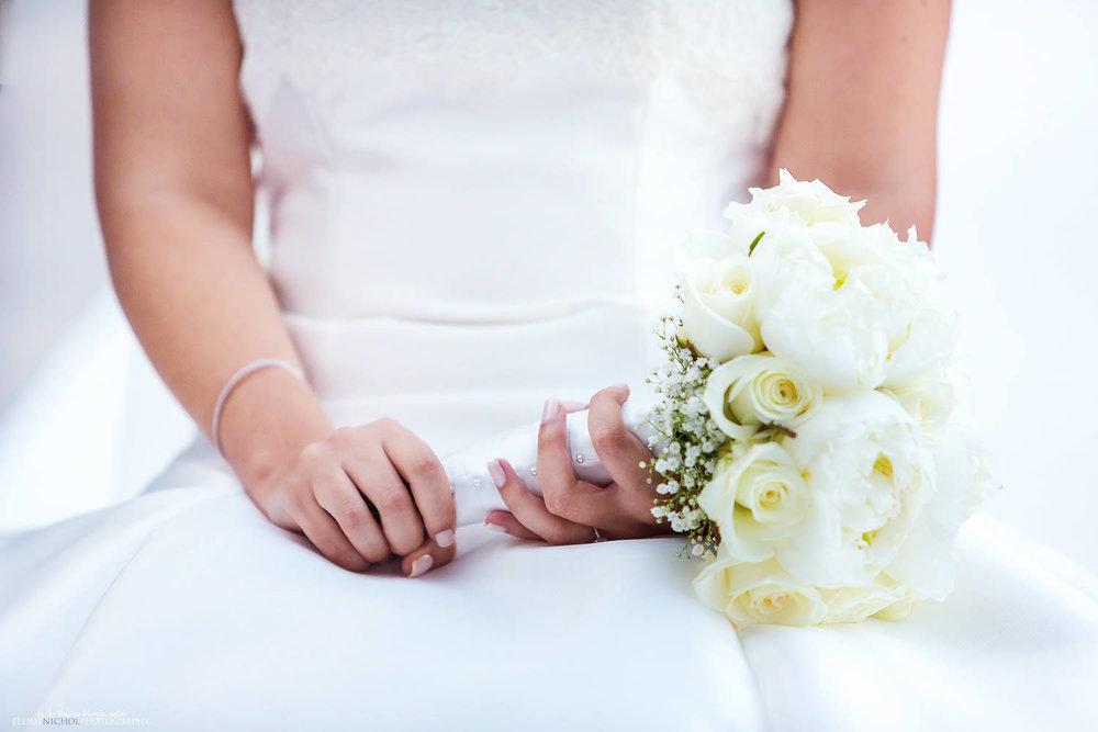 brides wedding bouquet detail