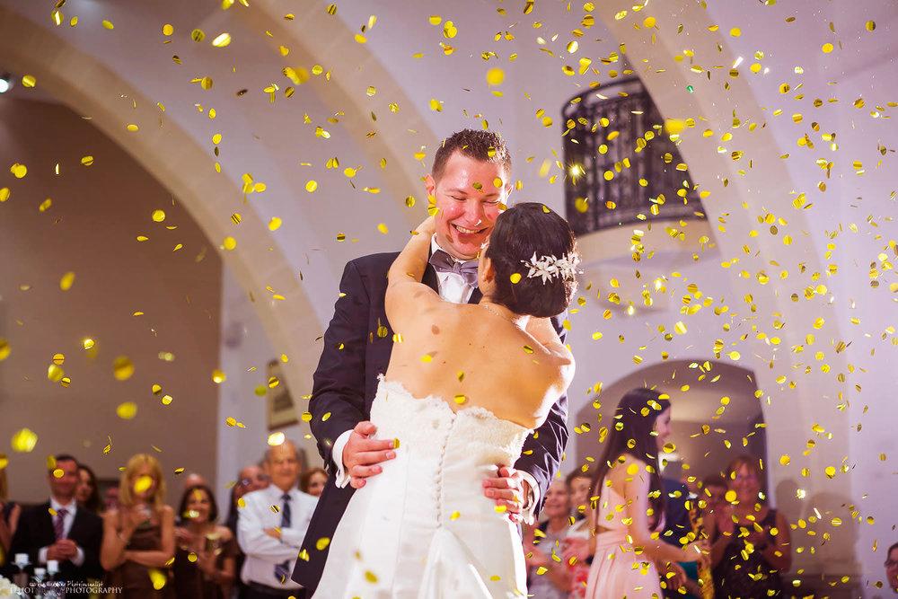 First dance at Villa Mdina, Naxxar, Malta. Wedding Photography in Malta