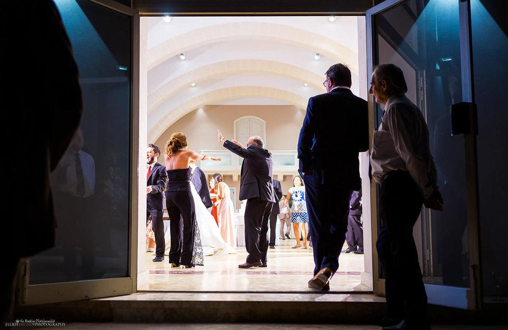 Wedding reception at Villa Mdina, Naxxar, Malta