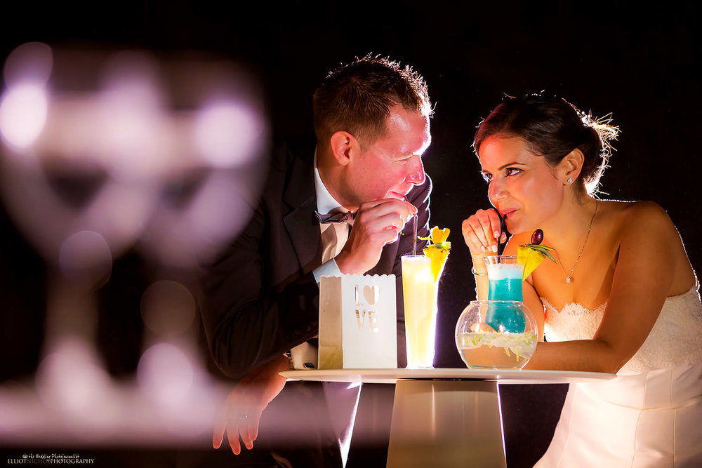 Wedding cocktails at Villa Mdina, Malta. Wedding photographer