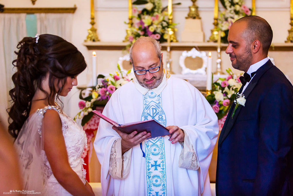 Small church wedding ceremony