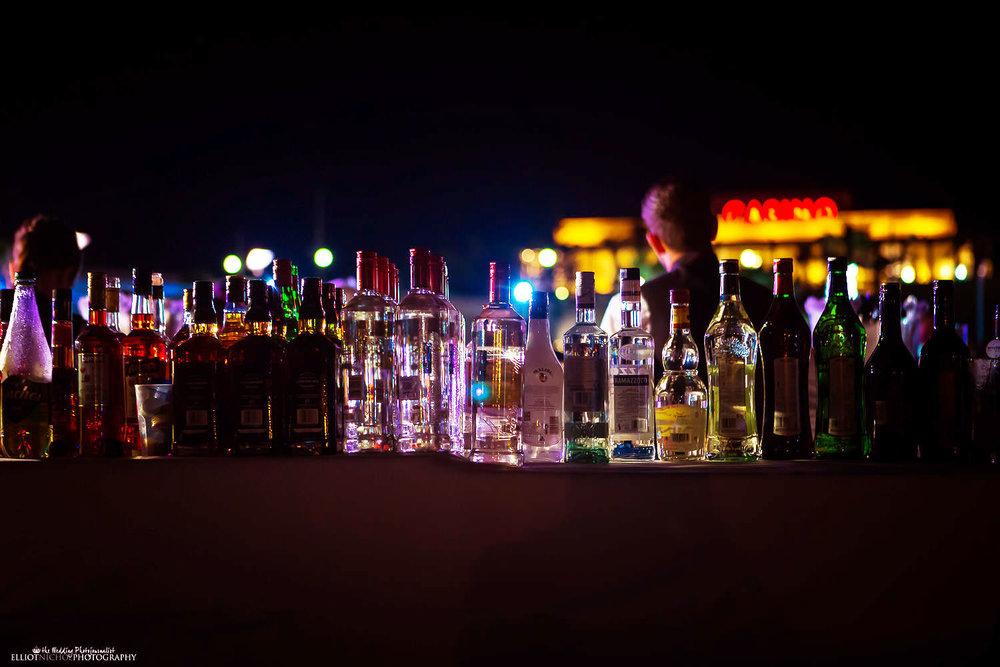 bedouin bar wedding reception drinks bar at the Westin Resort, Malta.